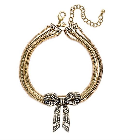 sequin-nyc Jewelry - Sequin-NYC Bow Statement Choker Necklace
